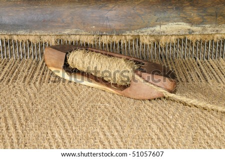 Hand crafted shuttle of an hand operated coir loom