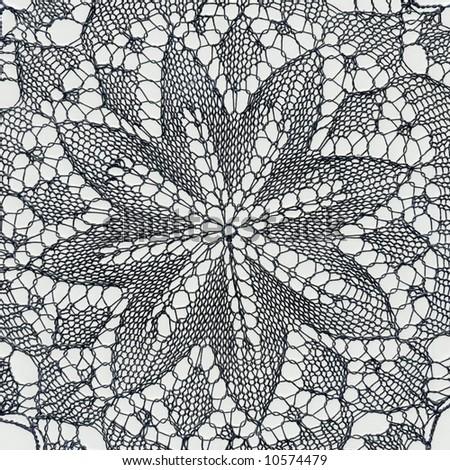 Hand crochet flower motif background - stock photo