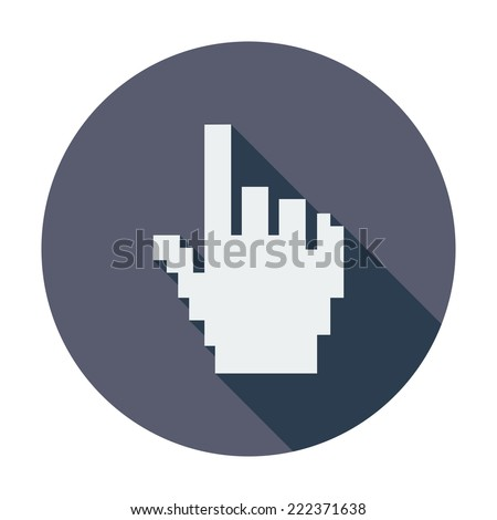 Hand cursor. Single flat color icon.  - stock photo