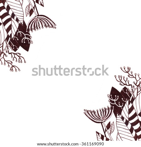 Hand draw background for invitation cards for wedding, birthday and other holiday