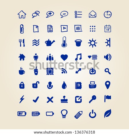 hand draw web icon .bitmap version - stock photo