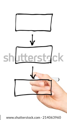 hand drawing blank diagram isolated on stock photo royalty free rh shutterstock com