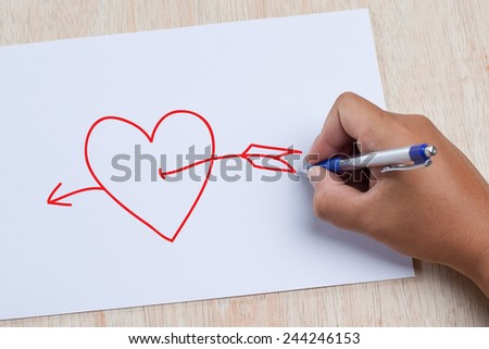 hand drawing heart