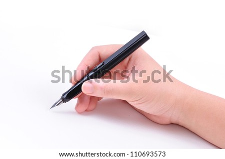 Hand drawing on white background with clipping path