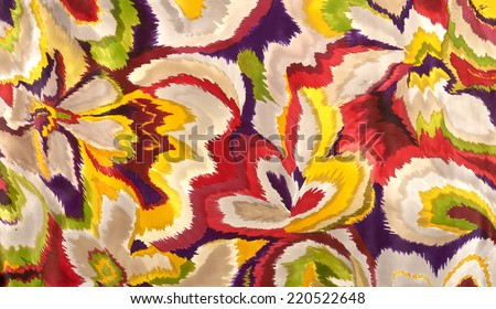 hand drawings on cloth - stock photo