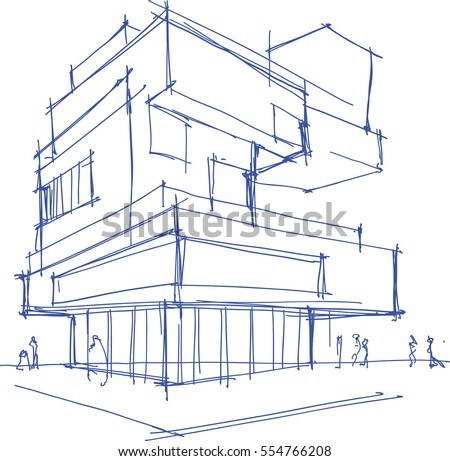 Architecture Buildings Sketch architecture sketch stock images, royalty-free images & vectors