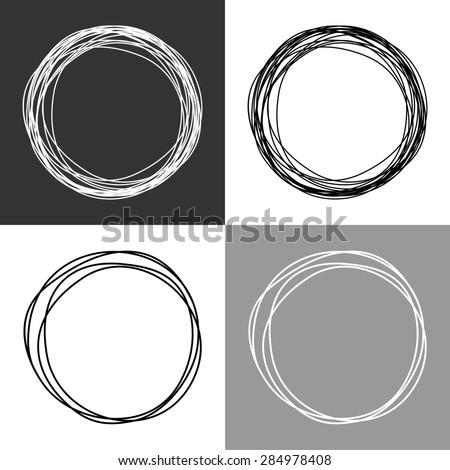 Hand drawn circles - stock photo