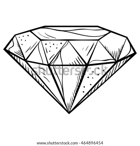 Hand-drawn doodle style diamond icon.