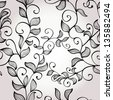 Hand drawn elegant floral background with branches. Raster version of the vector image - stock photo