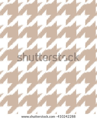 Hand drawn ikat style houndstooth seamless pattern design, repeating background for all web and print purposes - Raster version - stock photo