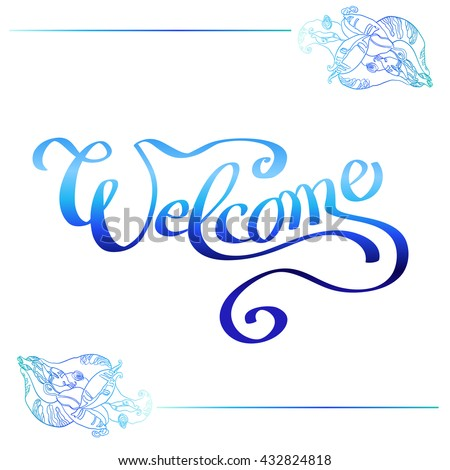Congratulations watercolor effect stock vector 521341306 Calligraphy and sign