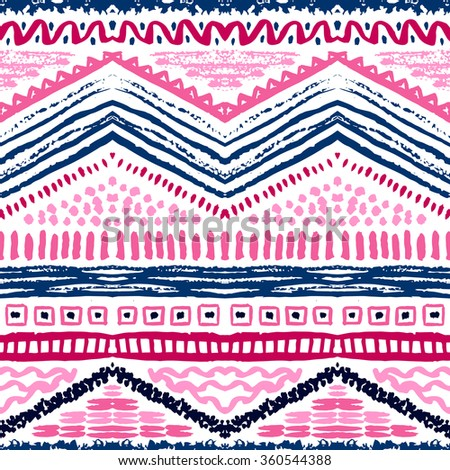 Hand drawn painted seamless pattern. illustration - stock photo