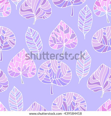 Hand Drawn seamless floral pattern.Stylized Decorative trees in pink.Illustration for design of gift packs,wrap,patterns fabric,wallpaper,web sites.Nature backdrop,repeated background - stock photo