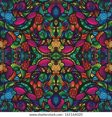 Hand drawn seamless pattern, seamless  pattern - stock photo