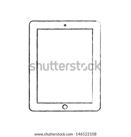 Hand-drawn tablet - stock photo