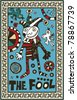 hand drawn tarot deck, major arcana,  the raster version, the fool - stock photo