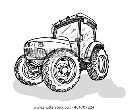 hand tractor drawing images galleries with a bite. Black Bedroom Furniture Sets. Home Design Ideas