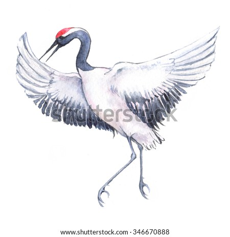 Japanese Crane Stock Images, Royalty-Free Images & Vectors ... - photo#6