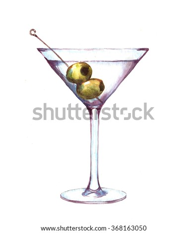 Cartoon Martini Glass Clip Art Stock Images, Royalty-Free Images ...