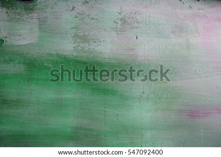 Hand drawn watercolor wash. Colorful paint stain. Square background in green, olive, yellow.