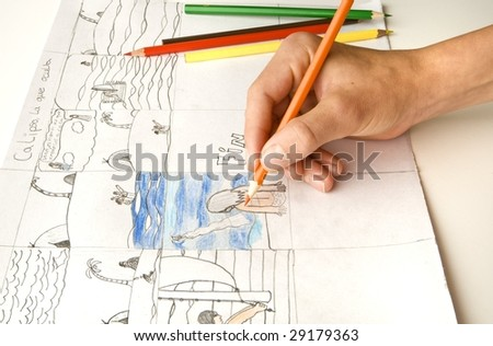 Hand drowing - stock photo