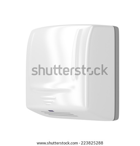 Hand dryer isolated on white background - stock photo