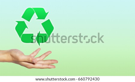 Hand Eco Environment Recycling