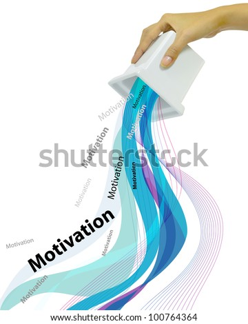 Hand Fill and Tilt Business and Education Word Motivation - stock photo