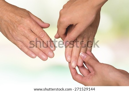Hand, finger, elderly.