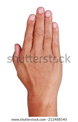 Hand, fingers and nails. - stock photo