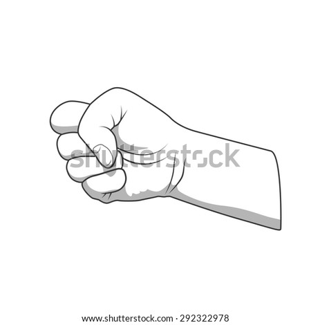 Hand fist gesture raster version