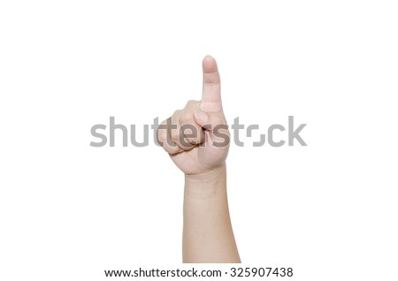 hand forefinger indicating of the direction