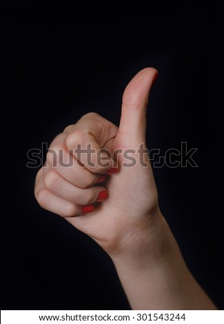 Hand gesture counting - stock photo
