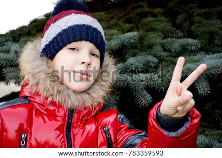 Hand Gesture Meaning Victory 2 Thumbs Stock Photo 783359593