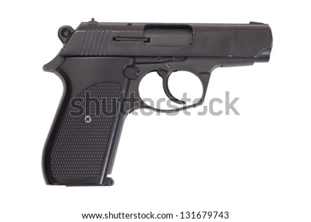 hand gun isolated