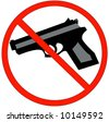 hand guns prohibited or not allowed sign - stock photo