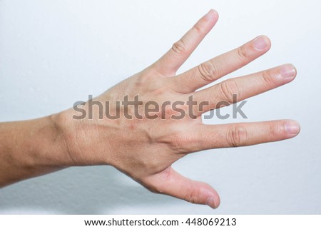 Hand Hand Meaning Symbol Hands Stock Photo Edit Now 448069213