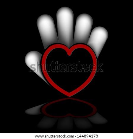 hand heart - stock photo