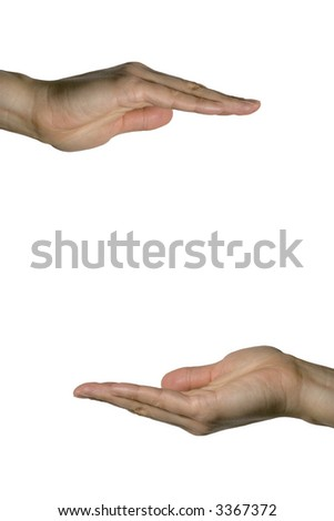 Hand Holding - stock photo