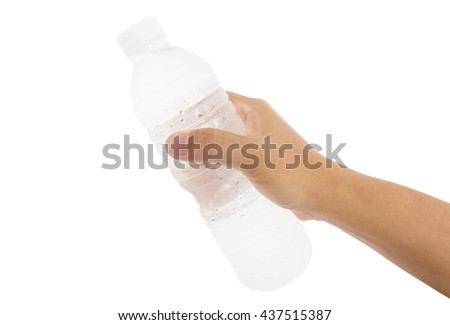 hand holding a bottle full of cold water