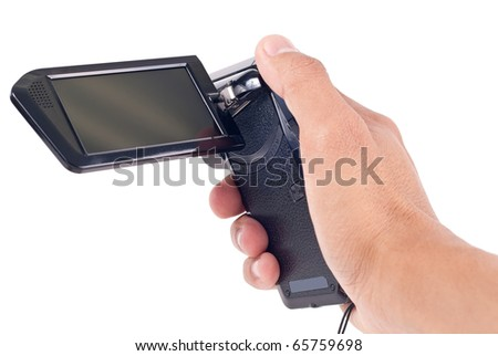 Hand Holding a Digital Video Recorder
