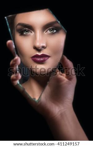 Broken Mirror Stock Images Royalty Free Images Vectors