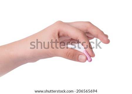 hand holding drugs