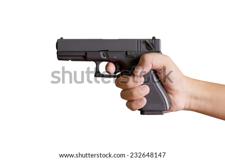 how to hold a pistol with two hands