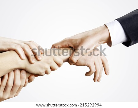 hand holding hands on a white background