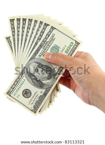hand holding hundred dollar notes