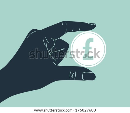 hand holding pound sterling coin