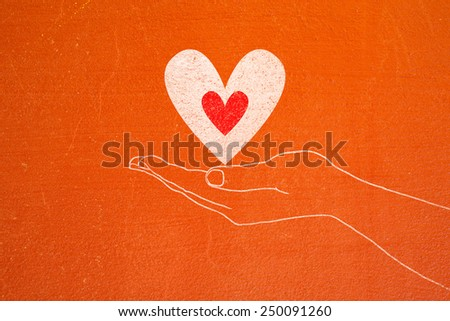 Holding Stick Hand Drawing Hand Holding Stick With Heart