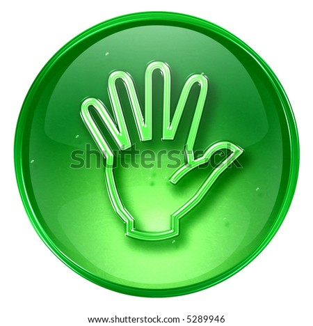 hand icon, isolated on white background.