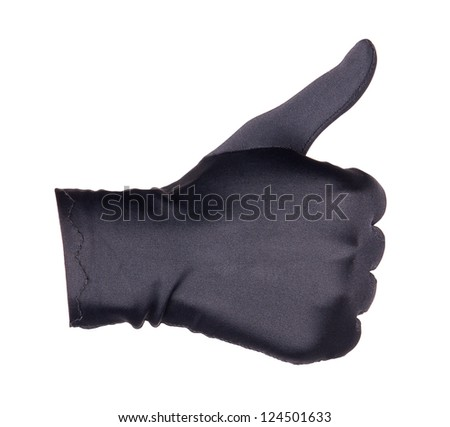 hand in Glove Giving the Thumbs Up Sign isolated